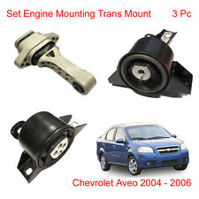 Set Engine Mounting Trans Mount 3 Pc For Chevrolet Aveo Sonic 2004 2005 2006