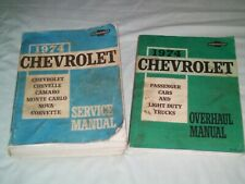 1974 Chevrolet Automobile And Light Truck Service Manuals ( 2 Manuals)