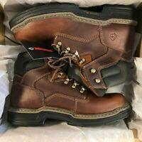 Wolverine Men's Raider 6 in. Work Boots Soft Toe Brown Size 9.5M