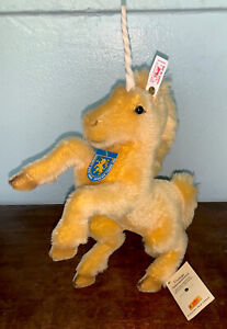 Steiff Gold Geingen Unicorn Horse Lim Edition #01213 999086 All Tags