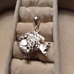 .925 STERLING SILVER FISH PENDANT