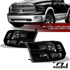 QUAD LAMPS FACTORY STYLE BLACK HEAD LIGHTS w/SIGNAL NB 2009-2017 2018 DODGE RAM