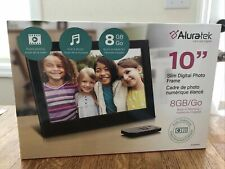 Aluratek 10 Inch LCD Slim Digital Photo Frame 8GB NEW - Pictures, Videos, Music