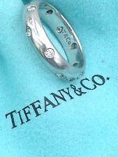 tiffany & Co. 950 Platinum Eternity Diamond Ring Band Sz. 5.25 With Box & Pouch