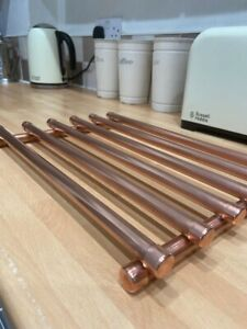 Handmade Copper Pipe Industrial Look Kitchen Trivet Pan Stand/ Cooling Rack