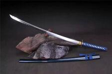 Japanese T10 Clay Tempered Katana Samurai Sword Wood Sheath Full Tang