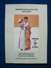 Hatfield Answers the Call 1914 - 1919.