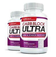 2x CARB BLOCK ULTRA Best Starch Carbo Blocker Weight Loss Diet Pill Fat Blocking