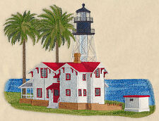 New Point Loma Lighthouse SET OF 2 BATH HAND TOWELS EMBROIDERED BY LAURA