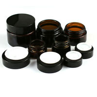 5/10/20/30/50g Thick Amber Glass Cream Jar Makeup Container Bottle 1/3/5/10pcs