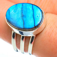 Labradorite 925 Sterling Silver Ring Size 8.25 Ana Co Jewelry R47001F