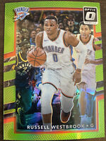 2017-18 Panini Donruss Optic Russell Westbrook Lime Green Prizm #81/175 Wizards!
