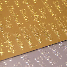 Dovecraft Mixed Family Gold & Silver Pack Peel Offs for cards and crafts