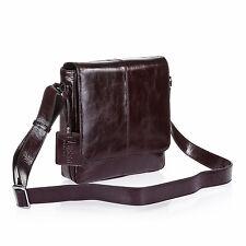 New Lusso Genuine Italian Oil Tan Leather Man Bag - Stylish & Classic Brown