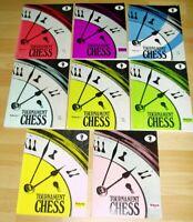 8x Schach Tournament Chess Buch Bücher Sammlung Volume 24 25 27 28 30 31 32 33