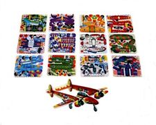 12 MINI AEROPLANE GLIDER 3D PUZZLES PARTY BAG FILLERS