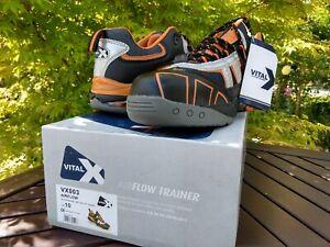 V12 Vital X Airflow VX003 Safety/Work Trainers Black/Orange New Boxed