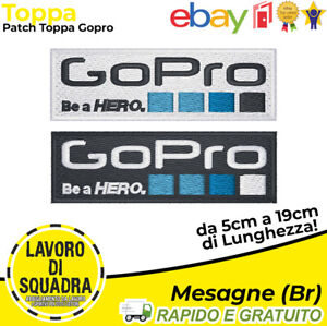 Patch Toppa Gopro Fotografia Video Outdoor Divertimento 1080 Termoadesiva Ricamo
