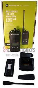 New Motorola RDX RDU4160D UHF 4W 16CH Radio Business Office Construction Hotel