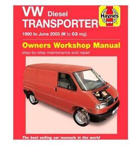 Vw Volkswagen Transporter T4 Repair Manual Haynes Workshop Manual 1990-2003