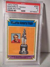 1974 Topps Masterson Trophy Henri Richard PSA EX 5 Hockey Card #243 NHL