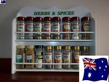 Be a Master Chef with this Spice Rack 16 jar HERBS & SPICES  IN WHITE