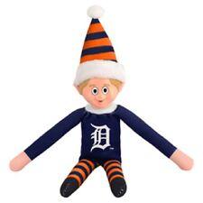 Detroit Tigers Plush Christmas Elf - MLB Doll On The Shelf Stuffed Toy