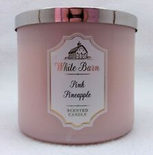 1 Bath Body Works White Barn PINK PINEAPPLE Large 3-Wick Scented Candle 14.5 oz