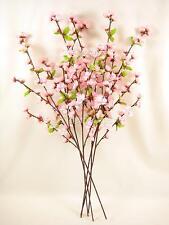 6 Artificial Flowers 74cm Pink Cherry Blossom Sprays / Stems for Arrangement