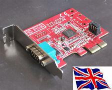 RS232 1 Serial PCIe PCI Express LP Bajo Perfil 16c950