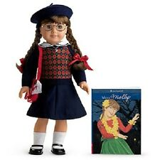 American Girl MOLLY DOLL + Molly's ACCESSORIES + book hat purse Emily's friend