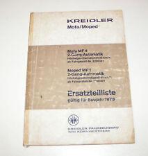 Ersatzteilliste Kreidler Mofa / Moped - ab 1968!