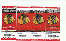 CHICAGO BLACKHAWKS VS SABRES FULL TICKET STUB 1/18/12 JONATHAN TOEWS 2 GOALS