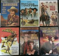 DVD LOT OF 6 VINTAGE CLASSIC WESTERNS kentuckian hot lead cold feet tall man pon