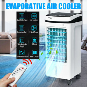 Portable Air Cooler Cooling Fan Conditioner Ice Purifier Humidifier Evaporative
