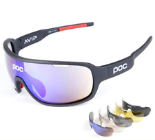 POC Cycling Glasses Biker Sunglasses UV400 Polarized Glasses With 5 Replace Lens