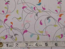 Moda Flow,  white Fabric, fat 1/4's,100% cotton by ZEN CHIC for Moda 1591-13