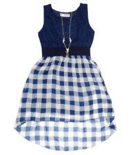 Robes bleu sans manches pour fille de 8 à 9 ans