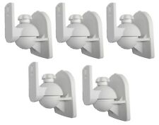 5 Pack Lot White Wall Speaker Mount for Klipsch Onkyo Sony Pyle LG RCA Bose Cube