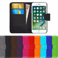 NEW PU Leather WALLET Case Cover with Card Slots&clip for Apple iPhone 6/6S UK
