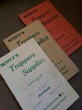 Vintage 1970s Scott's Trappers Supplies Booklets