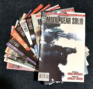 METAL GEAR SOLID #1-12 COMPLETE IDW COMICS SERIES 2004 ASHLEY WOOD 1ST PRINTS