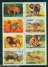 Ajman 1304 A - 1311 A , o , Motiv Tiere - Wildtiere