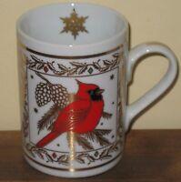 Christmas Cardinal Coffee Mug Cup Nordic Gold Capilano Birds Winter