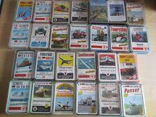 25 x Technische Quartette Auto Militär Motorrad Flugzeuge Schiffe ASS FXS etc.