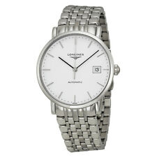Longines Elegant Collection Watch Automatic White Dial Stainless Steel Mens