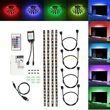 DC 5v 5050 RGB LED Strip Light TV Back Lighting Kit USB IR Remote Controller