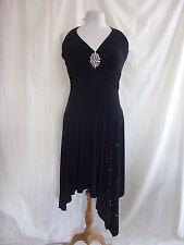 Ladies Dress - Dorothy Perkins, size 10, black, halterneck, bead/sequins - 2152