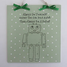 Robots - Robot Plaque - Wall Plaque - Children's Decor - Children's Character