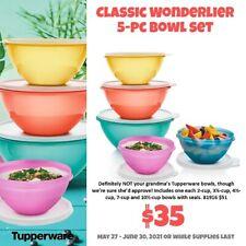New Tupperware Classic 5 pc Wonderlier Bowl Set $12 S/H While Supplies Last